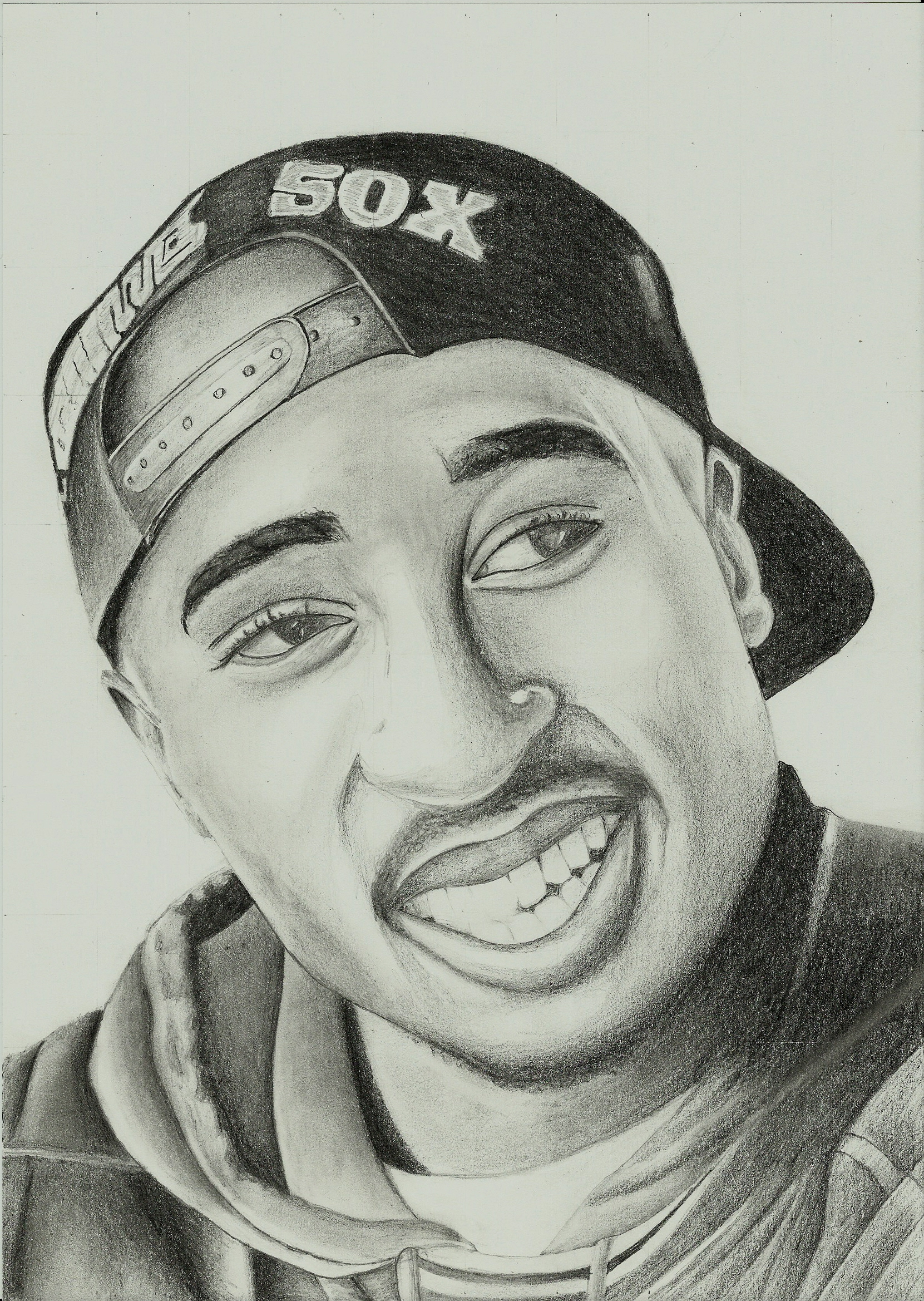Tupac Shakur 2Pac Portrait Realistic by MaxBechtold on ...