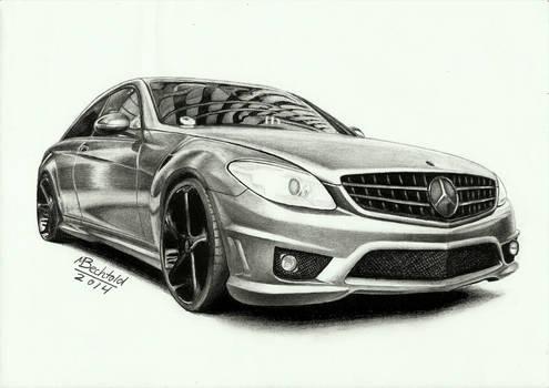 Mercedes Benz CL 63 AMG  Realistic Car Drawing