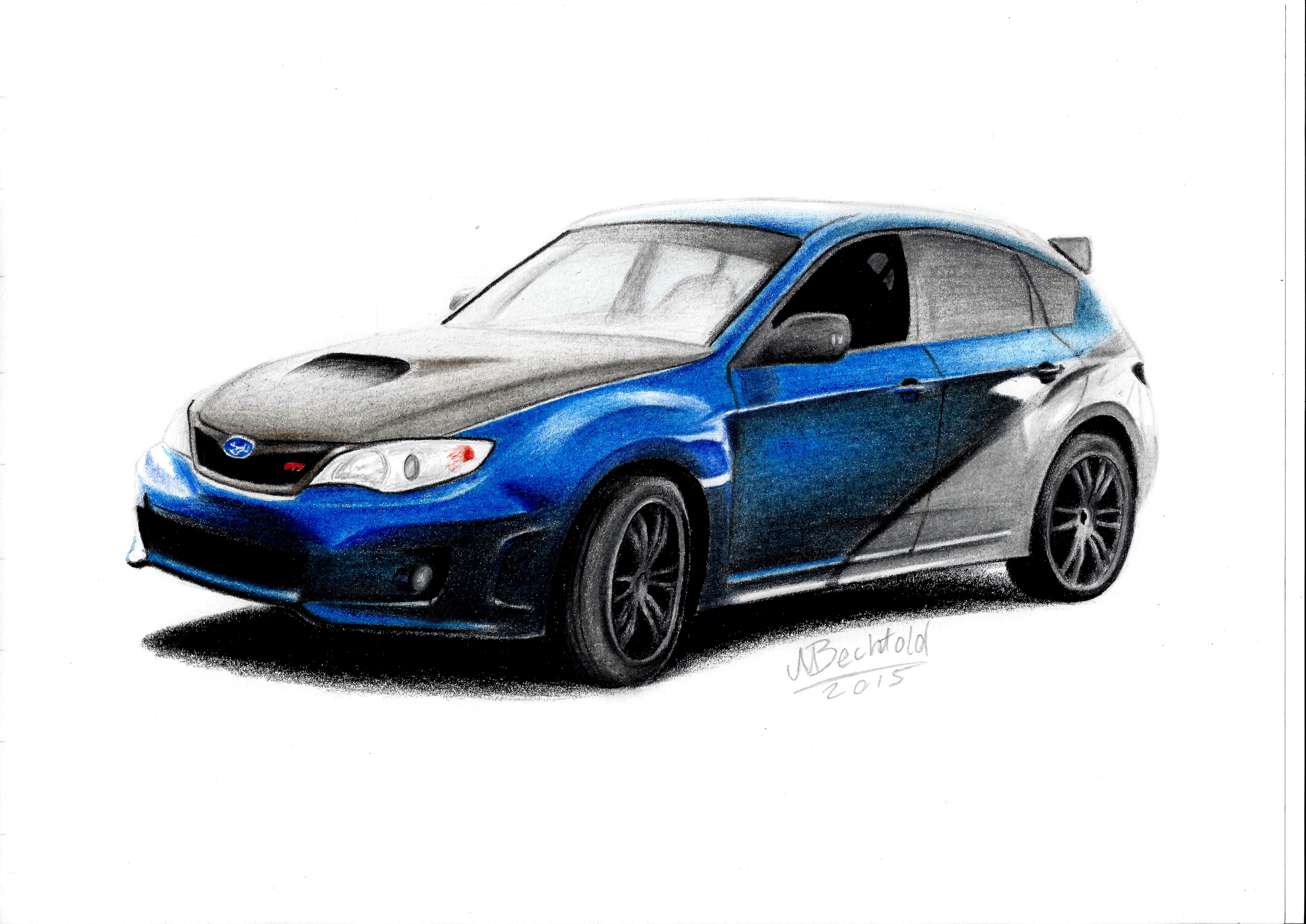 Subaru Impreza Wrx Sti Car Drawing Best Cars 2018