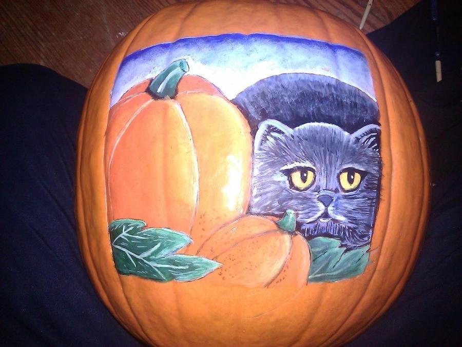 Cat Pumpkin by ASamTsuiFan