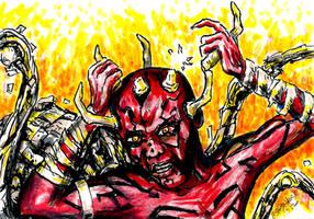 Darth Maul (spider cyborg) from The Clone Wars by siebo7