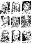 The Walkers Among Us - zombie sketch cards 1