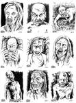 The Walkers Among Us - zombie sketch cards 2