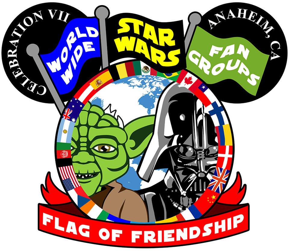 World Wide Star Wars Fan Groups Flag of Friendship by siebo7