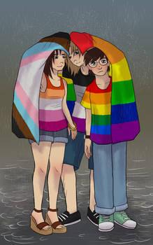 Rainy evening #Pride