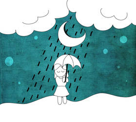 The Girl in Rain by chibiaya