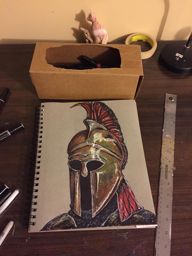 Greek helmet  by DMC5X2