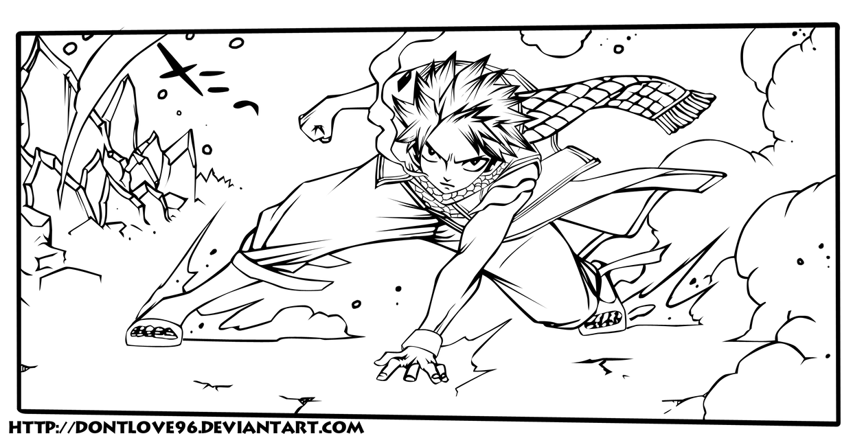 Natsu lineart by DontLove96