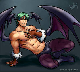 Male Morrigan by humbuged