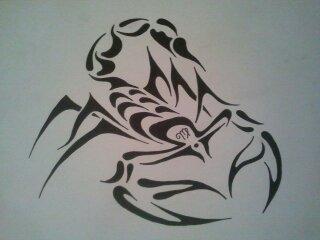 tribal Scorpio by NinjaB0b