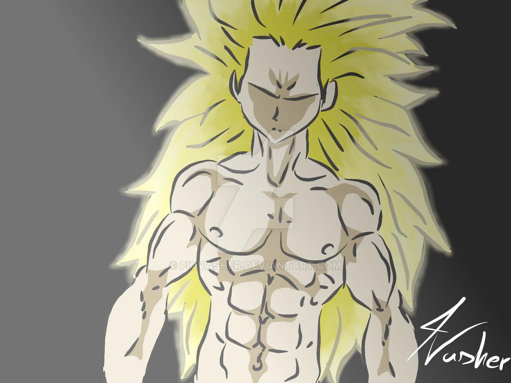 ssj 3 Goku by FioVasher