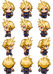 Final Fantasy VII Cloud Strife RPG Maker MV Sprite