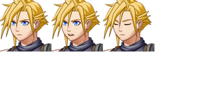 Final Fantasy VII Cloud Strife RPG Maker Portrait