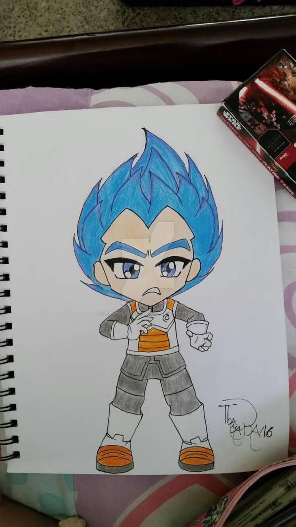 Chibi Vegeta Super Saiyan Blue by KaishySaiyanPrincess