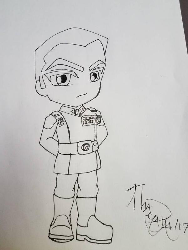 Chibi Grand Admiral Thrawn WIP by KaishySaiyanPrincess