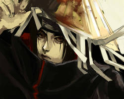 Itachi  very fast sketch by DeyonSide