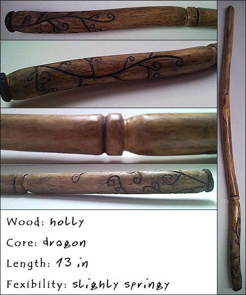 Holly wand by akaforbidden on deviantart for Farbideen wand