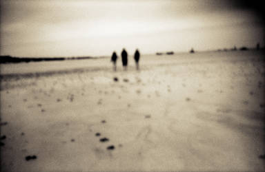 Walking on the sand by StephanePellennec