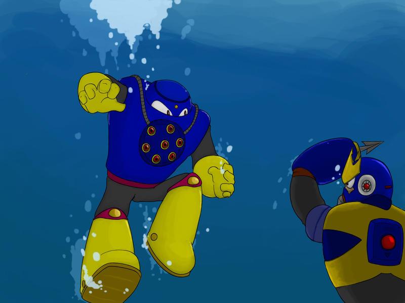 Wave Man Megaman