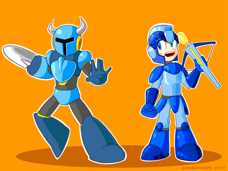 Shovel Man meets Mega Knight! by KarakatoDzo