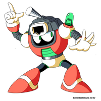 Switch Man (Mega Man Shattered Diamond) by KarakatoDzo