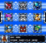 Mega Man SG Stage Select Concept