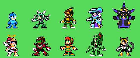 Mega Man SG Style Robot Masters by KarakatoDzo