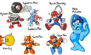 Mega Man Dongs Robot Master Lineup