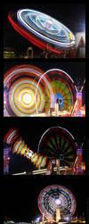 Night Time Fairground by darwin2kx