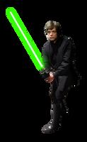 Luke Skywalker Jedi - Render PNG by jonathanrey