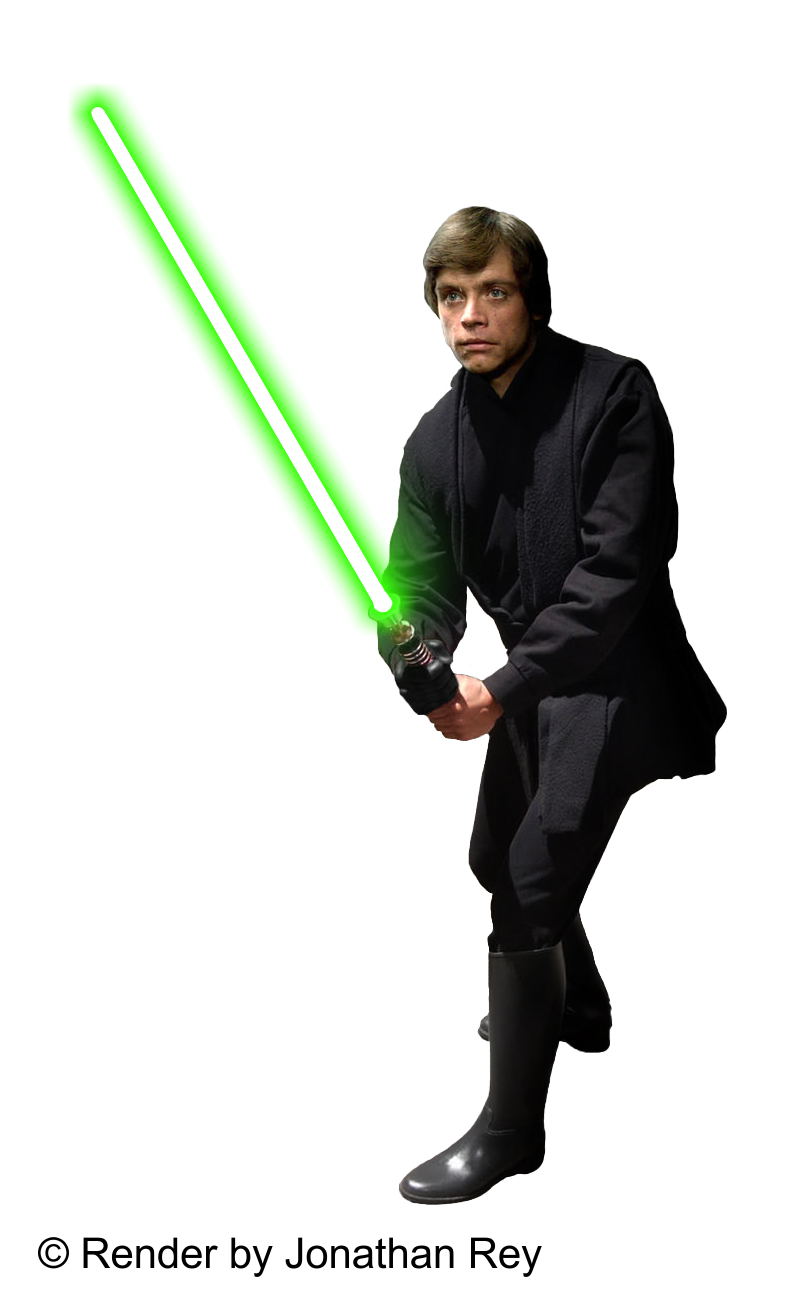 Luke Skywalker Jedi - Render PNG by jonathanrey