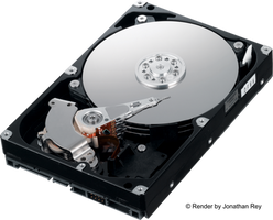 Hard Disk HDD 3.5 SATA High Definition Render PNG by jonathanrey