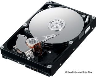 Hard Disk HDD 3.5 SATA High Definition Render PNG by jonathanrey
