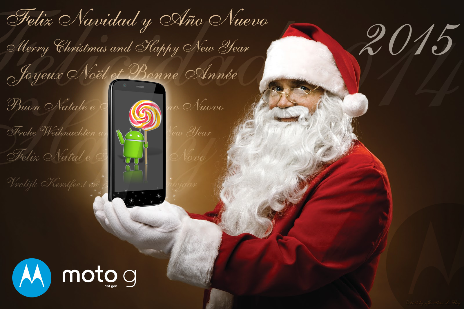 Moto G 1st Gen - Santa Gift Android Lollipop 5 by jonathanrey