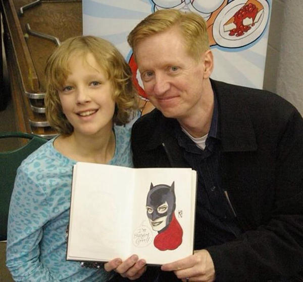 Batgirl head sketch FallCon Minnesota by spilkerart