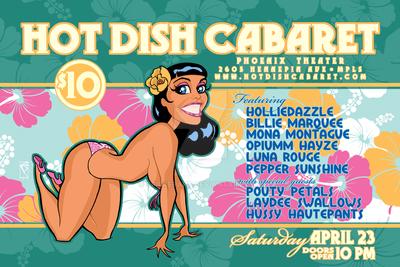 Hot Dish Cabaret Poster art April 2016 by spilkerart