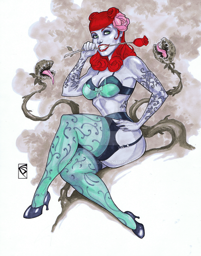 Ant Lucia's DC Bombshells Poison Ivy by spilkerart