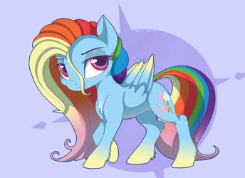 RainbowShy by MistyEDash