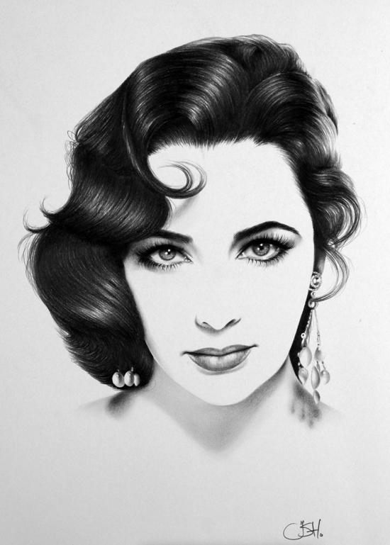 http://ileanahunter.deviantart.com/art/Elizabeth-Taylor-Minimal-263372014