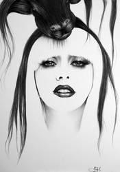 Gaga Minimal Drawing by IleanaHunter