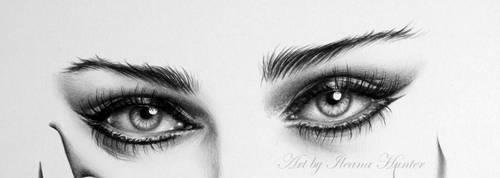 Madonna Eye Detail by IleanaHunter