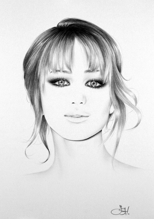 Jennifer Lawrence Commission by IleanaHunter