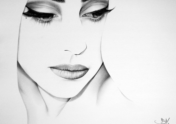 Lady Gaga Minimal Portrait by IleanaHunter