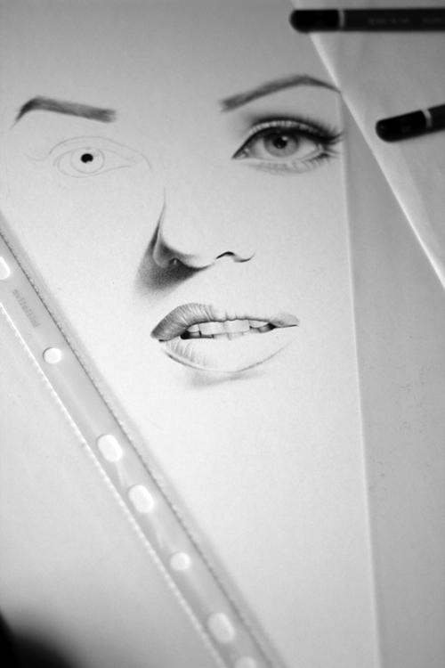 Marilyn WIP II by IleanaHunter