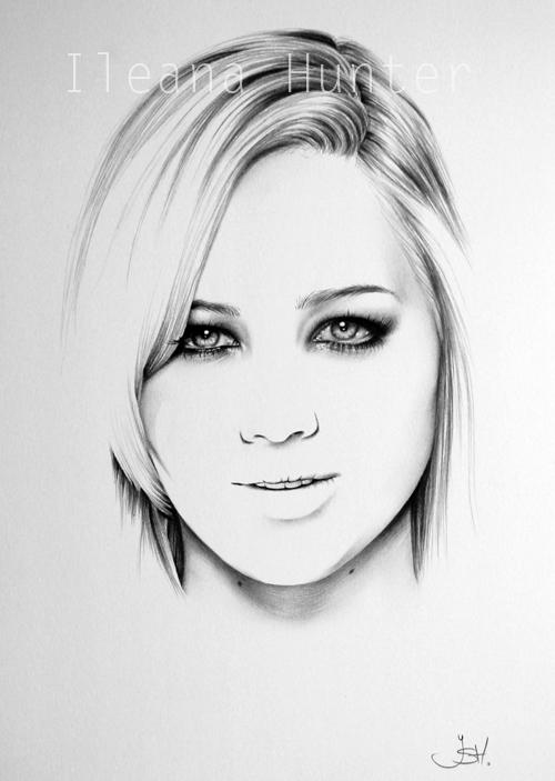 Jennifer Lawrence Minimal Portrait by IleanaHunter