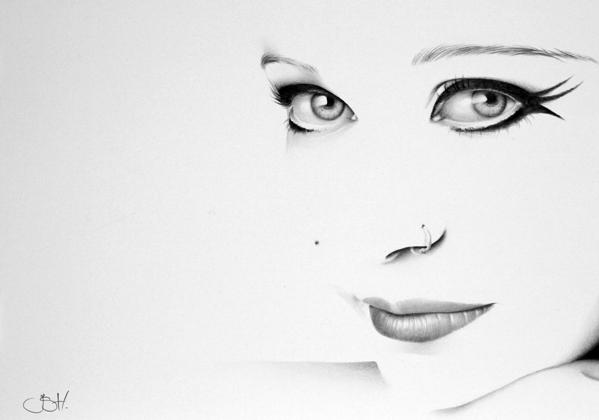 Anneke van Giersbergen Minimal Portrait by IleanaHunter