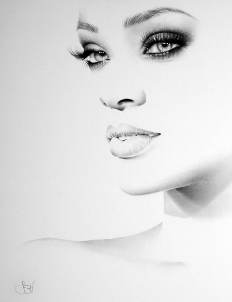 Rihanna Minimal Portrait by IleanaHunter