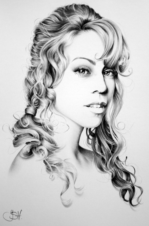 Mariah Carey Minimal Portrait by IleanaHunter
