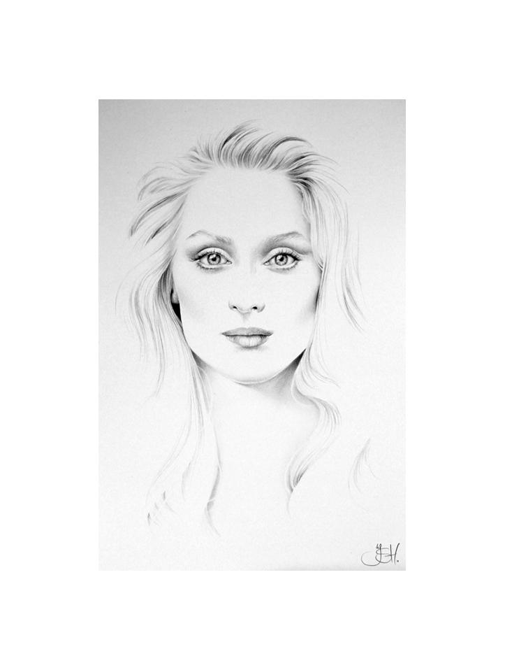Meryl Streep Minimal Portrait by IleanaHunter