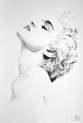 Madonna Minimal Portrait by IleanaHunter